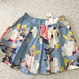 NWT—Gap girls' floral skirt